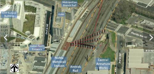 NoMA Metrorail station area