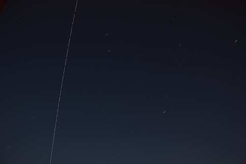 Stacked image of ISS. passing over North London | by Graham R Smith