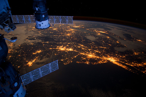Atlantic Coast at Night (NASA, International Space Station, 02/06/12) | by NASA's Marshall Space Flight Center