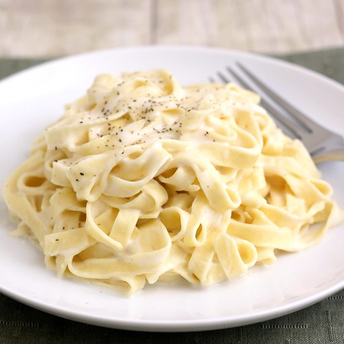 Lighter Fettucine Alfredo | by Tracey's Culinary Adventures