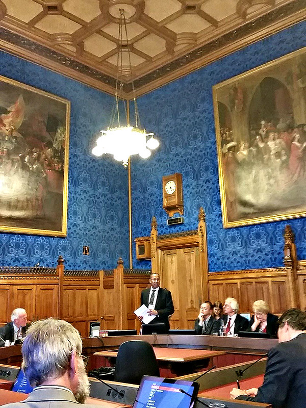 Jimmy Smith presents on livestock to UK parliament