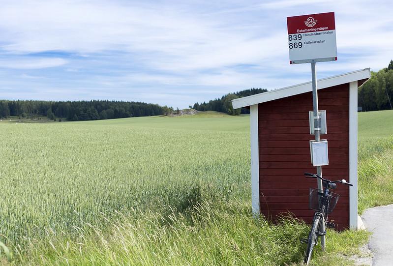 Rural bus stop