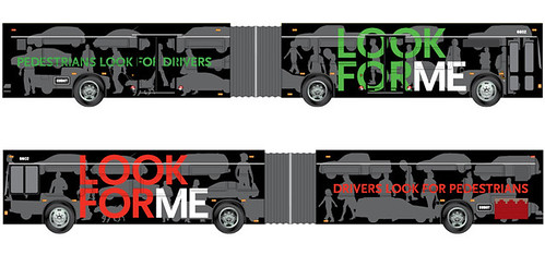 bus wrap, Pedestrian safety campaign, New Mexico, VWK