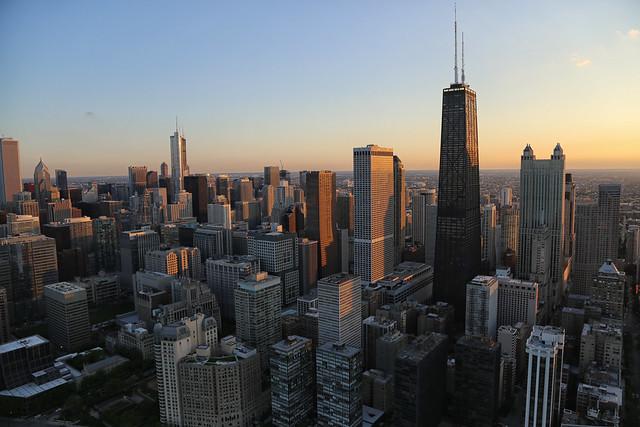 Chicago Helicopter Tour Chicago Skyline John Hancock Center