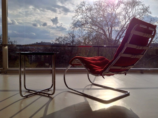 Tugendhat villa, armchair, view