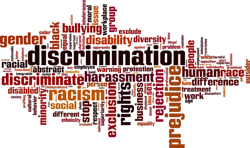 Infographic - levels of racial discrimination