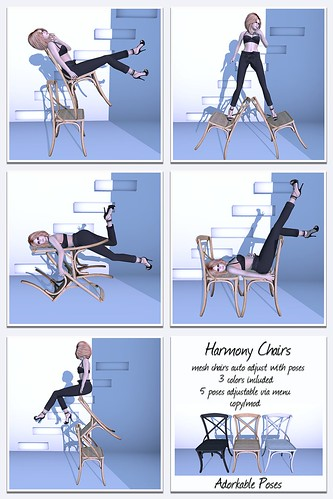 Adorkable Poses:  Harmony Chairs | by Adorkable Peapod