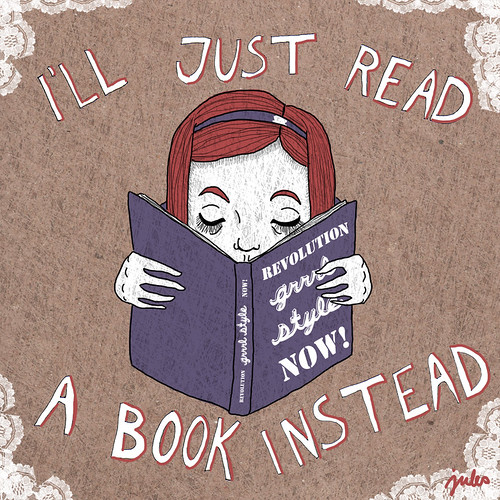 i'll just read a book instead | by ieatcake