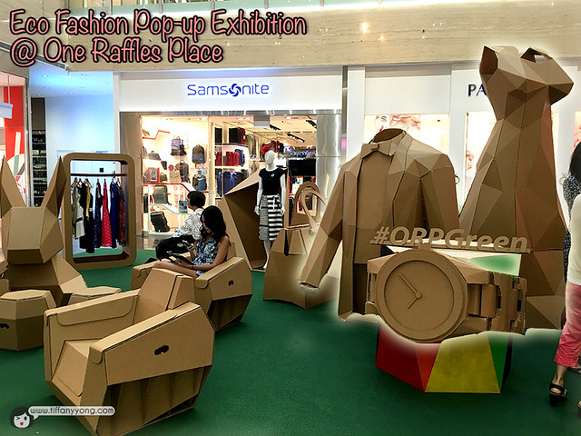 One Raffles Place Eco Fashion Popup exhibition
