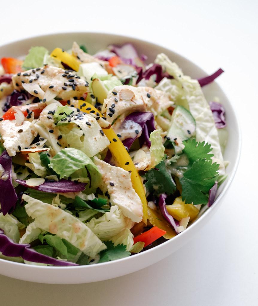 Chinese Chop Salad + Peanut Sesame Dressing