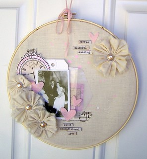 Altered Embroidery Hoop | by Tessa Buys