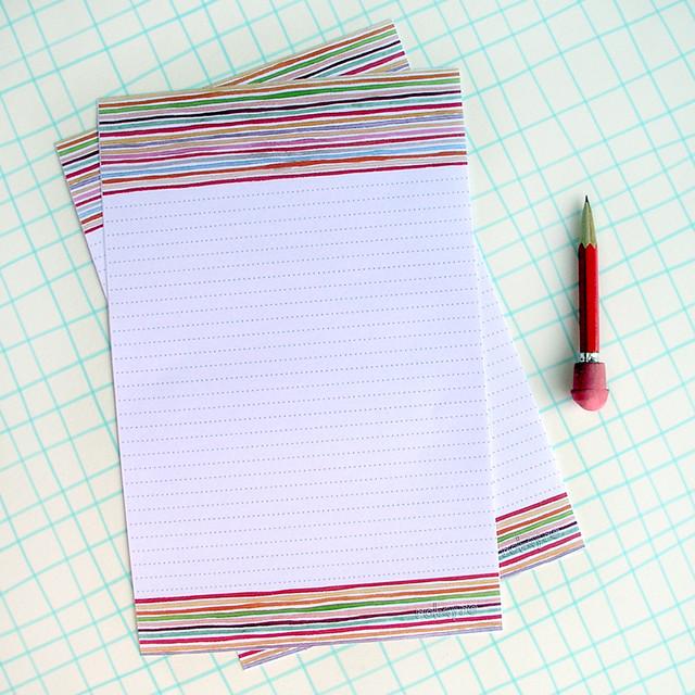 Robayre Watercolor Lines Stationery Set