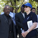 Helen Clark visits Place St. Pierre, former IDP camp whose residents have all been rehoused