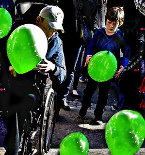 Green balloons | by Capitano Dick