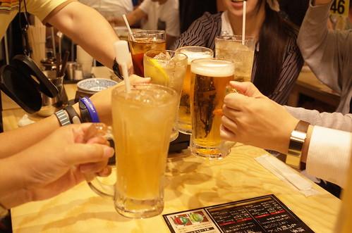 お多福 乾杯