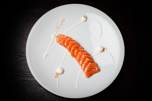 Mezcal-cured ocean trout with cream cheese, orange, and sal de gusanos 03 | by Gilt Taste Plates
