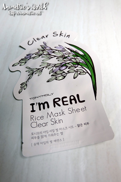 Tonymoly I'm Real Rice Mask Sheet Clear Skin