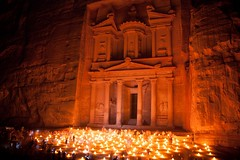 Petra by night by Scott Robertson, Montreal
