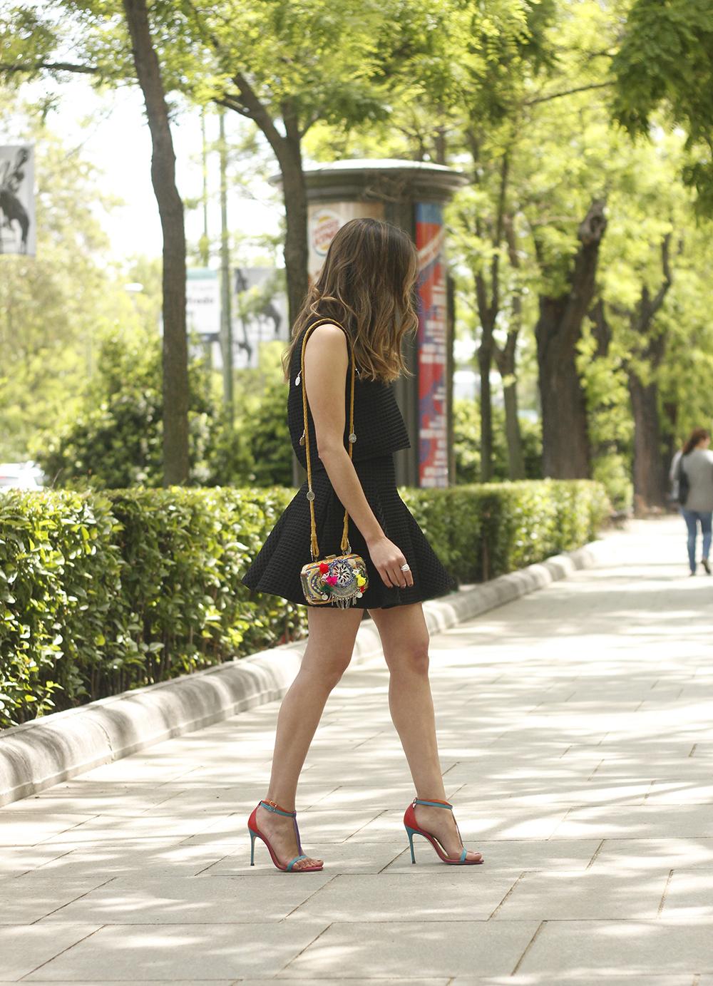 Little black dress maje carolina herrera sandals bag outfit fashion style summer sunnies09