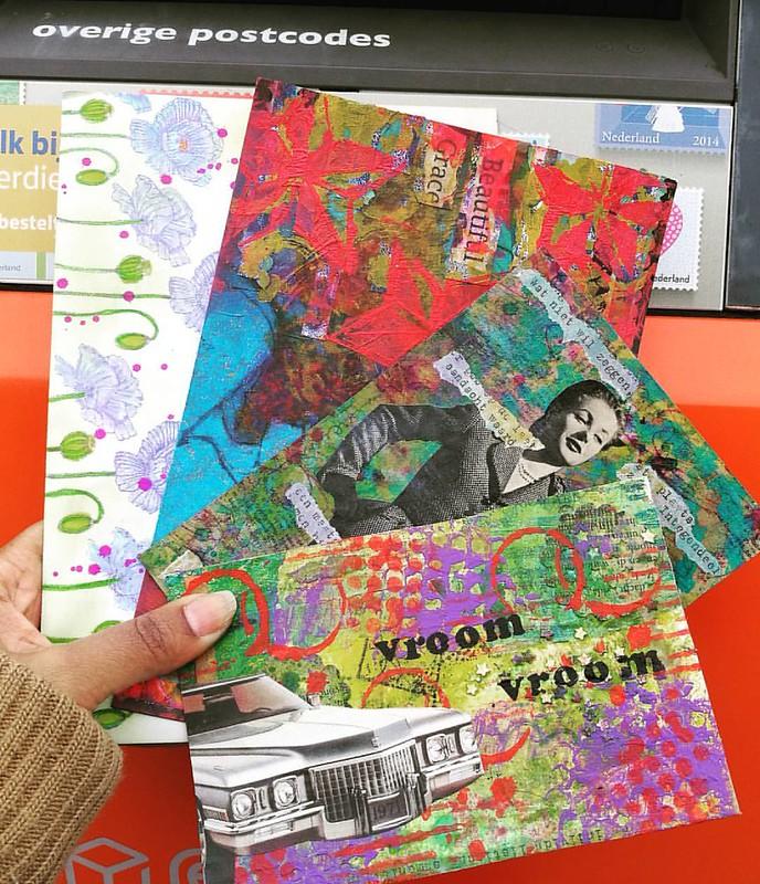 Today's mail out #mailart #snailmail #mailartist #snailmailrevival #post #echtepostiszoveelleuker #echtepost #postfabriek #swapbot #swaps #mailout #iuoma #collage #mailartmonday #mailbox #postcard #handmade #sent #sending #vintage