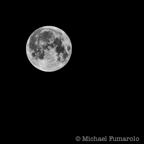 Supermoon 2012 - 03 (B&W) | by Michael Fumarolo