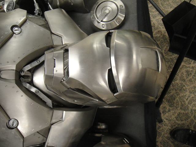 Captain America Prop Auction - Iron Man 2 armor helmet