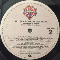 AL JARREAU:ALL FLY HOME(LABEL SIDE-B)