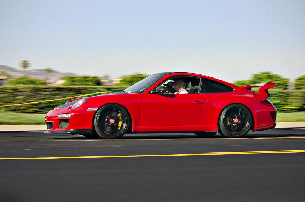 Red Porsche Car Porsche 911 Gt3 a Red