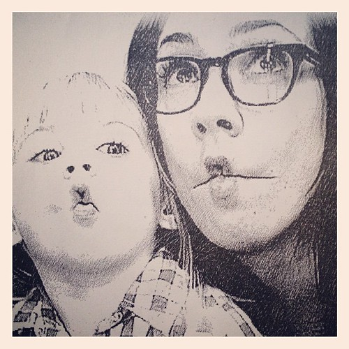A memento from our day at Chuck E. Cheese's. The funny faces were E's idea. | by Nicole Balch