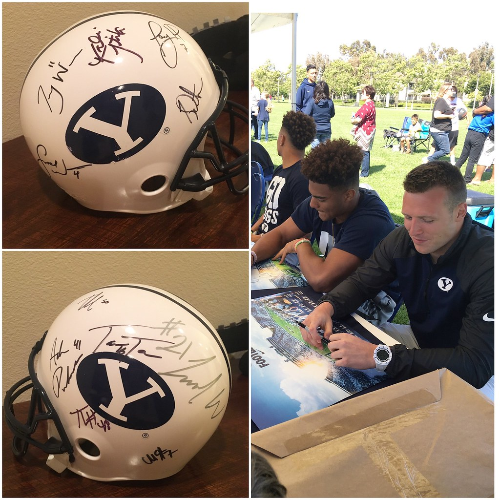 BYU Football player autographs