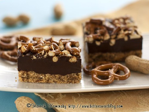 Peanut Butter Fudge Pretzel Bars | by Bitter-Sweet-