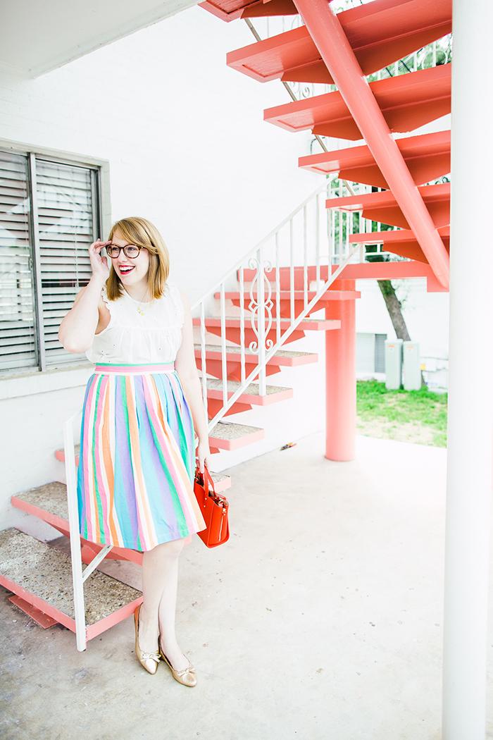rainbow midi skirt8