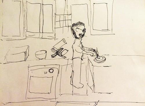 Me in the Kitchen (drawn by Joy) (July 8 2015)