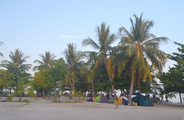 kalanggaman island tent site
