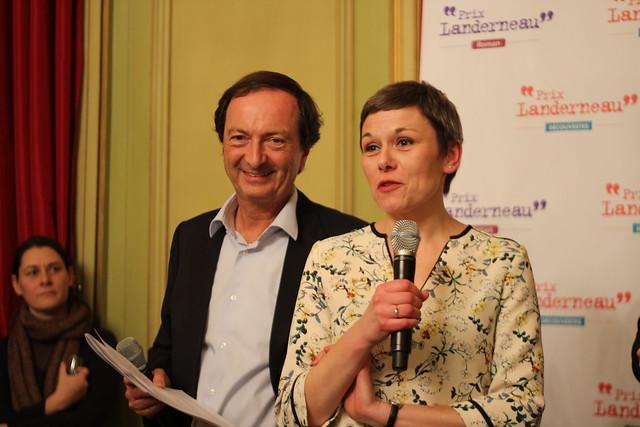 Michel-Edouard Leclerc et Fanny Chiarello - Prix Landerneau Découvertes et Roman 2015