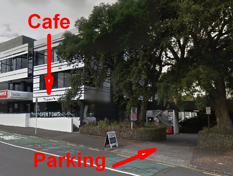 Parking at Tuihana Cafe