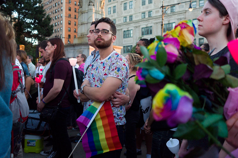 Candle Light Vigil for Victims in Orlando at Grand Army Plaza in Brooklyn