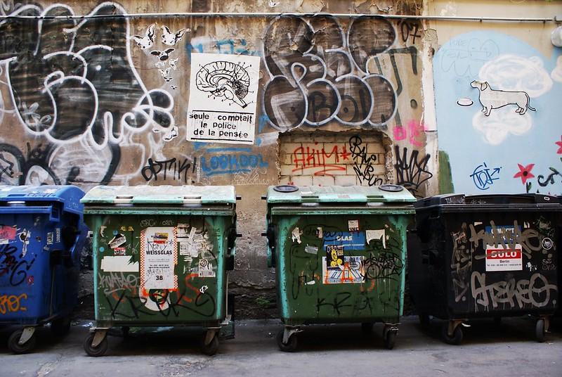 Dans le quartier de Mitte une ruelle assez typique de Berlin.