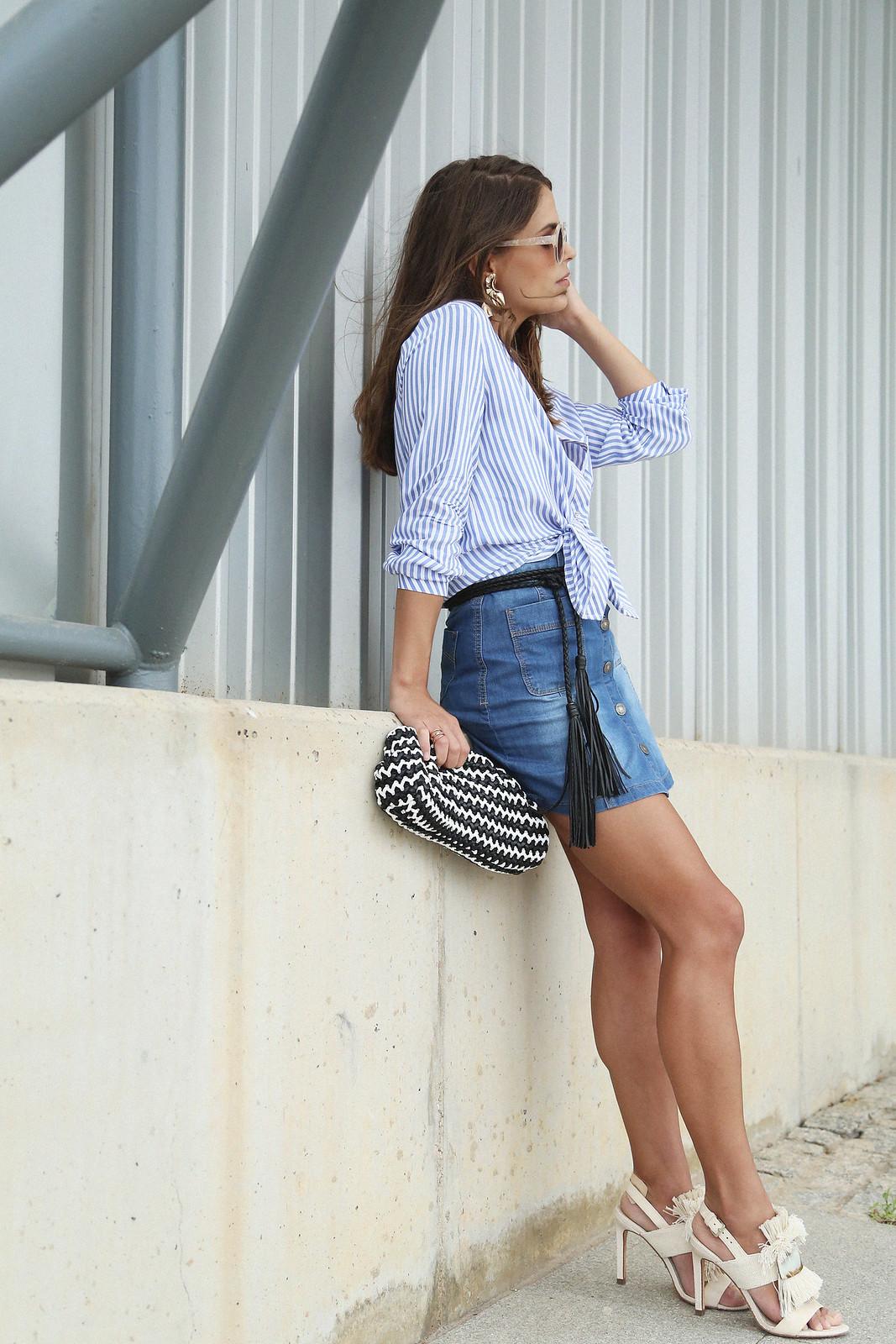 jessie chanes seams for a desire denim skirt stripes shirt-9
