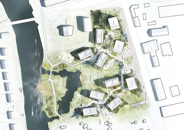 Деревянный квартал в Эребру, Швеция. Проект C.F. Møller