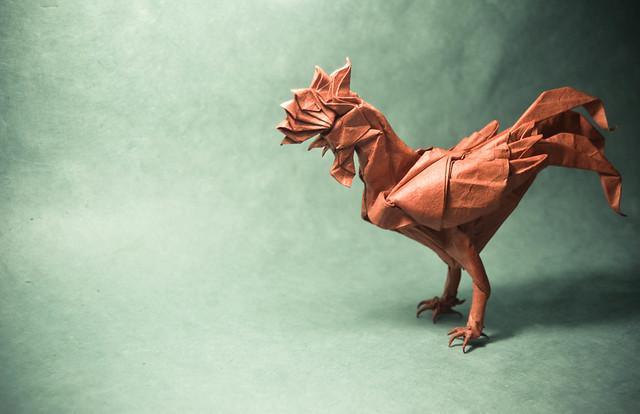 Origami Rooster - Satoshi Kamiya