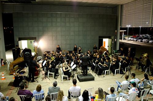 apresentação da Banda Sinfônica do Estado de Goiás no Campus Trindade