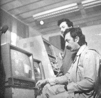 Լեռնային Ղարաբաղի հեռուստատեսության առաջին եթերից առաջ, 1988թ., լուսանկարը՝ հեղինակի անձնական արխիվից