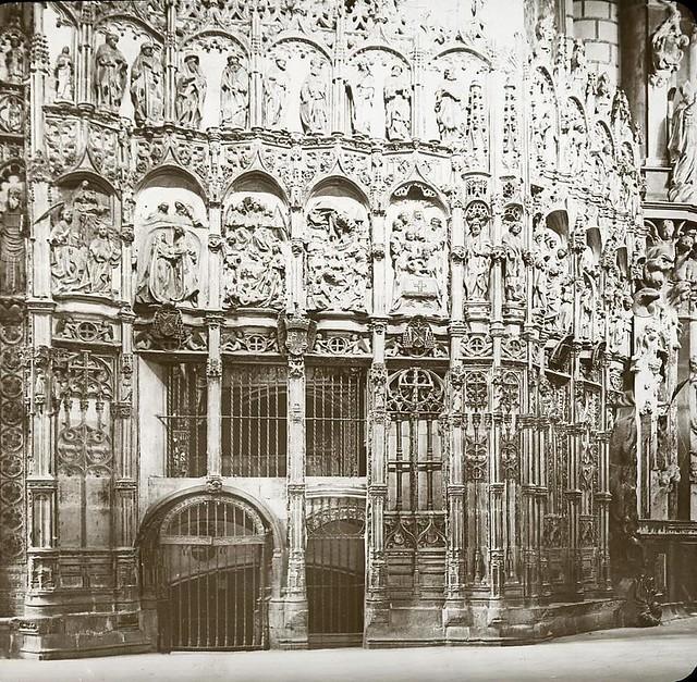 Catdral hacia 1905 fotografiado por Alois Beer. Fotografía editada y publicada por E. Mazo para linterna mágica MTFFD026490_P