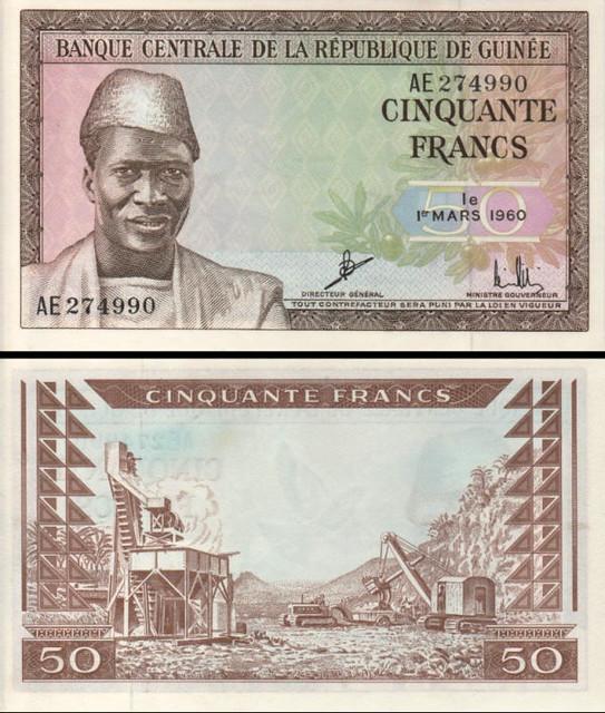 50 Frankov Guinea 1960, P12