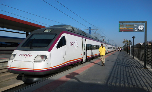 Taking the train from Toledo to Madrid