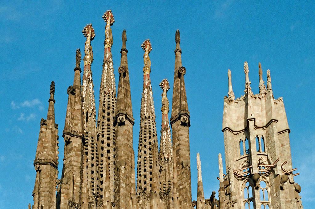 Top of La Sagrada Familia - 1996