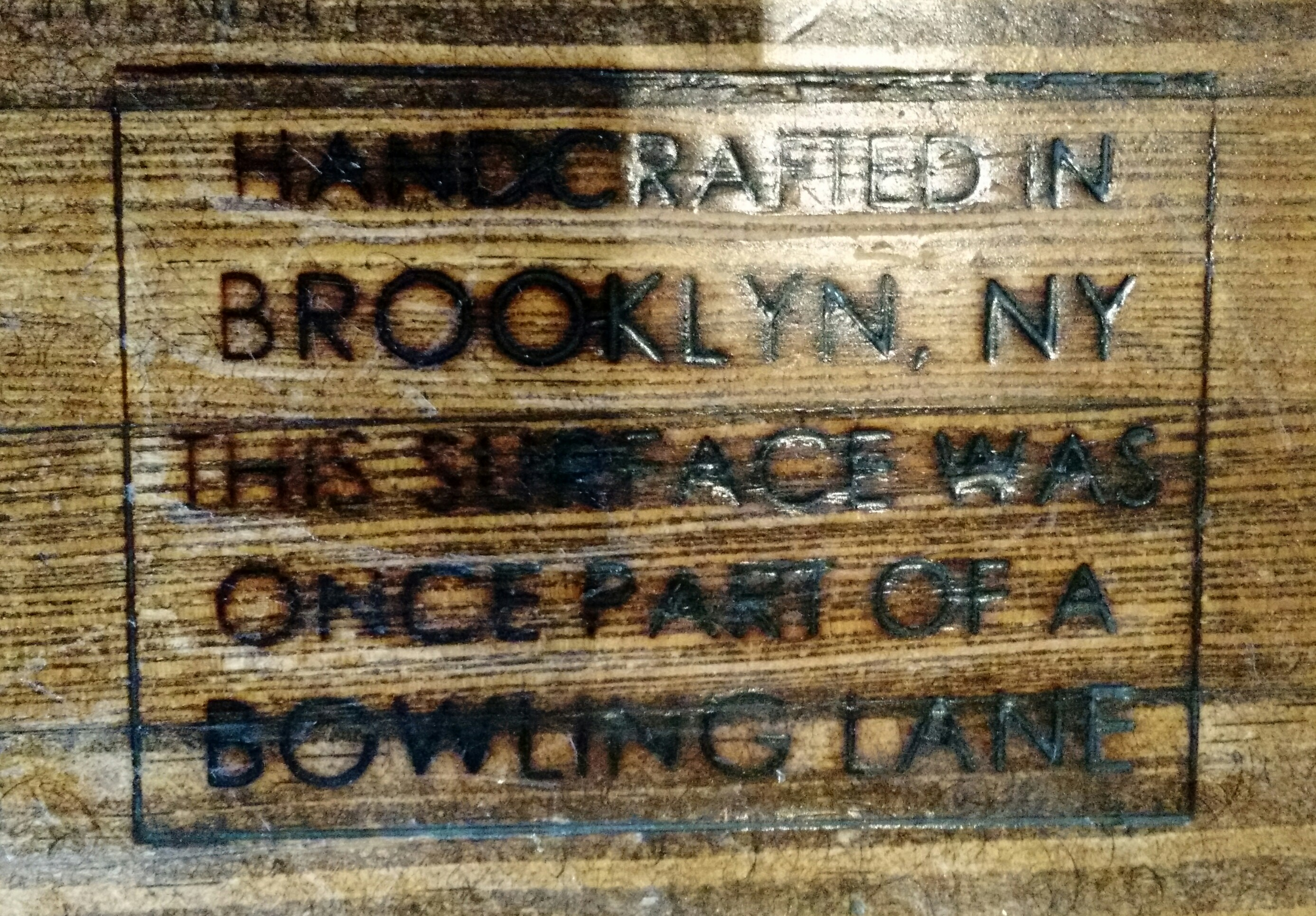 Inscription on Shake Shack table
