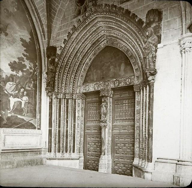Catedral hacia 1905 fotografiado por Alois Beer. Fotografía editada y publicada por E. Mazo para linterna mágica MTFFD026487_P