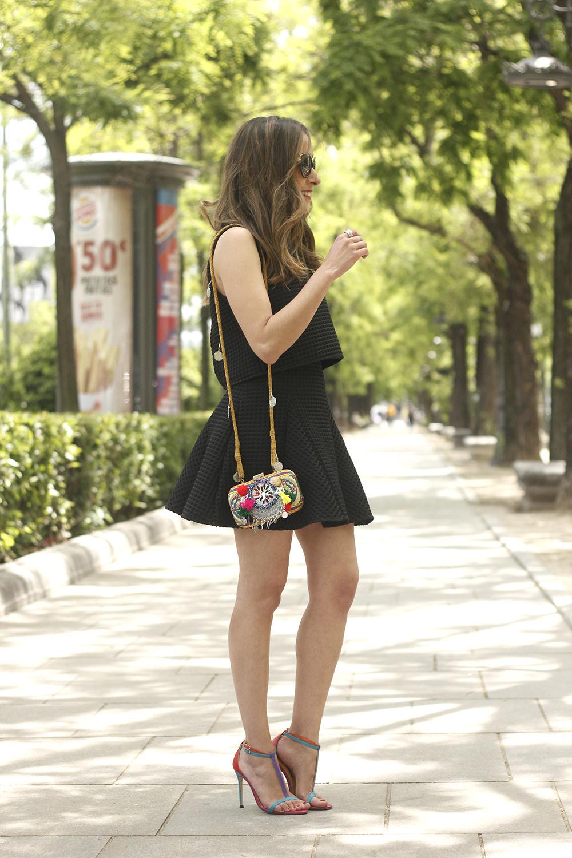 Little black dress maje carolina herrera sandals bag outfit fashion style summer sunnies05